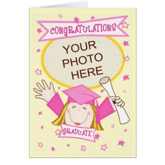 Custom Preschool / Kindergarten Girl Graduation Greeting Card