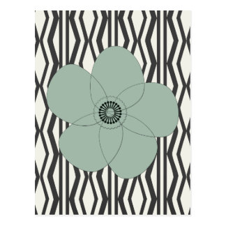 Custom Pretty Vintage Style Pale Green Flower Postcard