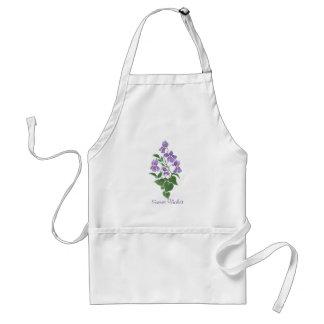 Custom Pretty White 'Sweet Violet' Apron