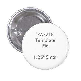 "Custom Print 1.25"" Small Round Pin Blank Template"