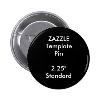 "Custom Print 2.25"" Round Pin Blank Template"
