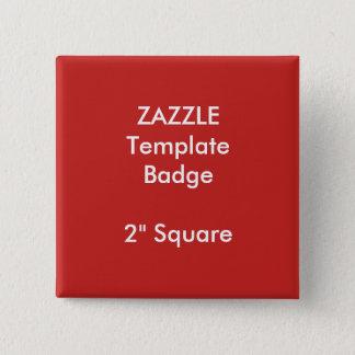 "Custom Print 2"" Square Badge Blank Template"