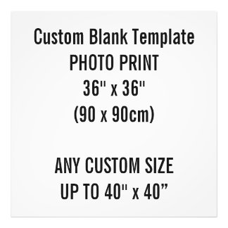 "Custom Print 36"" x 36"" Photo Print Blank Template"