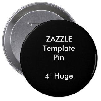 "Custom Print 4"" Huge Round Pin Blank Template"