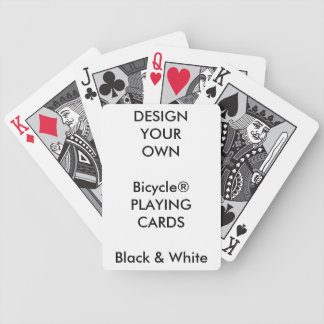Custom Print Bicycle® BLACK & WHITE Playing Cards