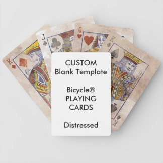 Custom Print Bicycle® DISTRESSED Playing Cards