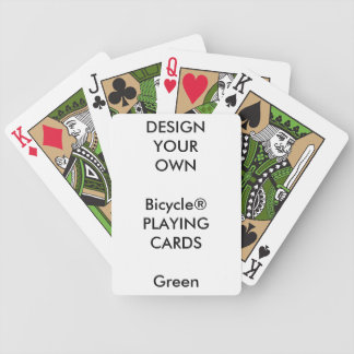 Custom Print Bicycle® GREEN Playing Cards Blank