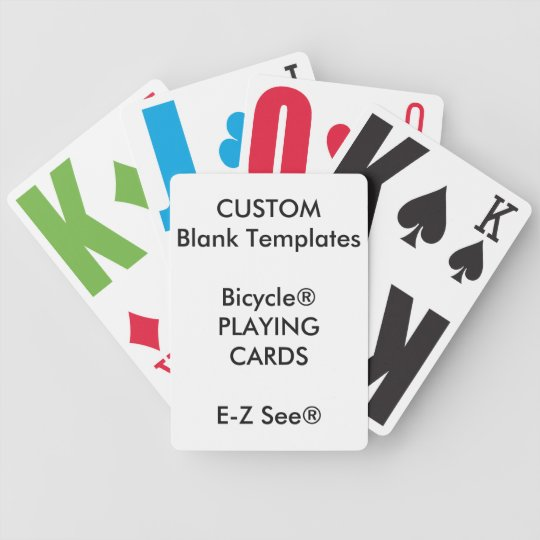 Custom Print Bicycle® Large Print Playing Cards