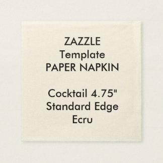 Custom Print ECRU Cocktail Paper Napkin Template