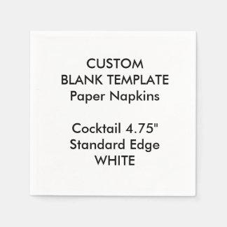 Custom Print Small WHITE Cocktail Paper Napkins