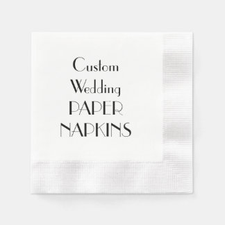 Custom Print Wedding Party Paper Napkins