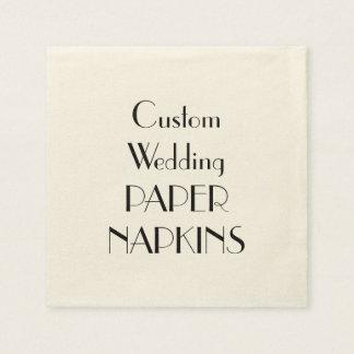 Custom Print Wedding Party Paper Napkins Disposable Serviette