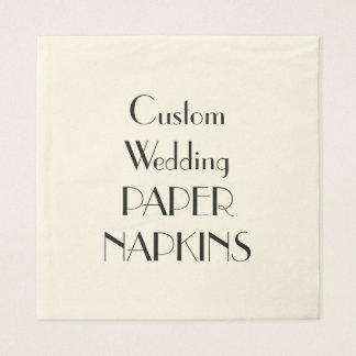Custom Print Wedding Party Paper Napkins Paper Napkin