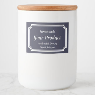 Custom printed food canning template mason jar food label