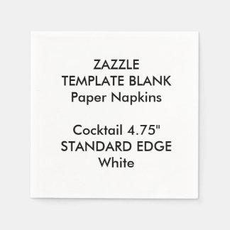 Custom Printed Plain Edge Cocktail Paper Napkins