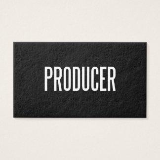 Custom Producer business card (premium paper)