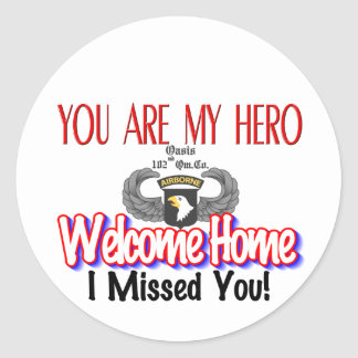 Custom Products With Your Soldier's Name Classic Round Sticker