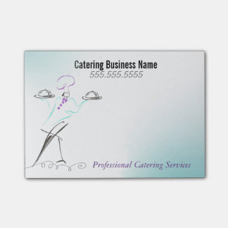 Custom Professional Catering Business Sticky Notes Post-it® Notes