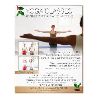 Custom professional Yoga class Christmas flyers