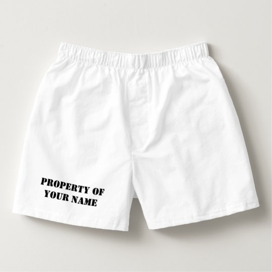 Custom property of boxer shorts and briefs for