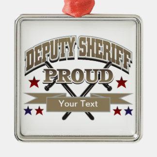 Custom Proud Deputy Sheriff Christmas Ornaments