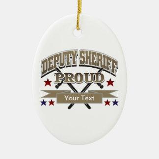 Custom Proud Deputy Sheriff Ceramic Oval Decoration