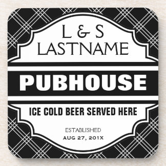 Custom Pubhouse Home Bar Beer Sign Beverage Coasters