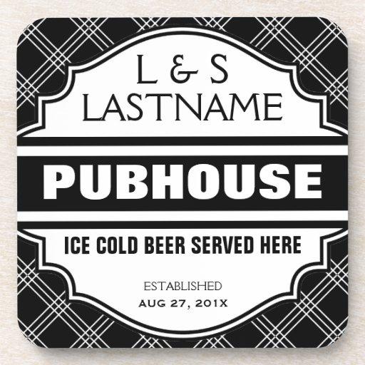 Custom Pubhouse Home Bar Beer Sign Beverage Coaster