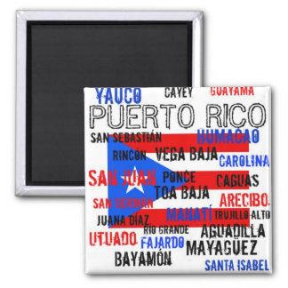 Custom Puerto Rico > San Juan, Ponce Square Magnet