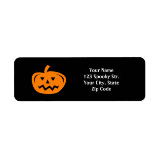 Custom pumpkin Halloween return address labels