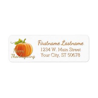 Custom Pumpkin Happy Thanksgiving