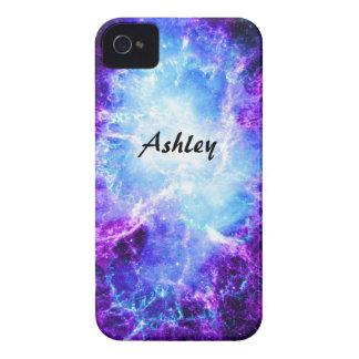 Custom Purple Blue Galaxy iPhone 4 Case