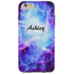 Custom Purple Blue Galaxy Tough iPhone 6 Plus Case