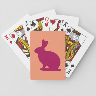 Custom Purple Bunny Rabbit Silhouette Playing Cards