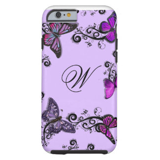Custom Purple Butterflies iPhone 6 Case