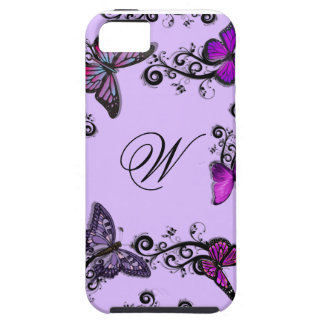 Custom Purple Butterflies iPhone 5 Cases