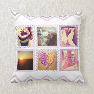 Custom Purple Chevron Instagram Cushion