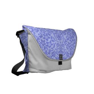Custom Purple Damask Wedding Gift Bag Tote Courier Bags