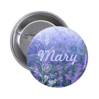 Custom Purple Floral Button