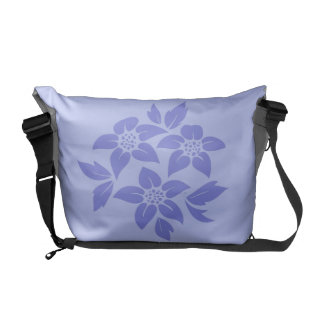 Custom Purple Floral Wedding Gift Bag Tote Messenger Bags