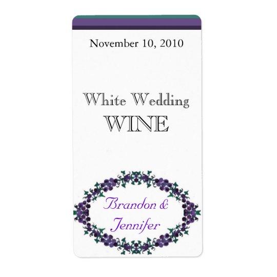 Custom Purple Floral Wedding Mini Wine Labels