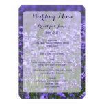 Custom Purple Lavender Wedding Menu 13 Cm X 18 Cm Invitation Card