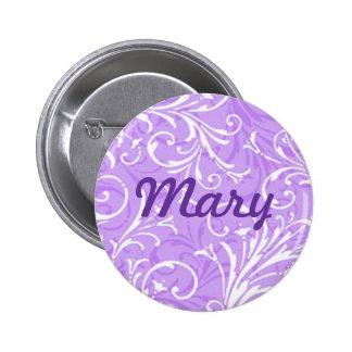 Custom Purple Ornamental Button