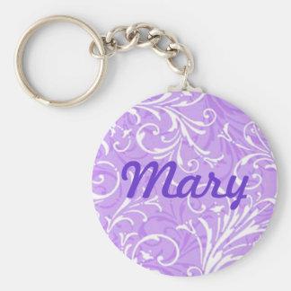 Custom Purple Ornamental Key Chain