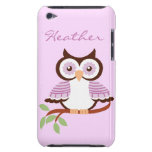 Custom Purple Owl iPod Case-Mate Barely There iPod Touch Cover