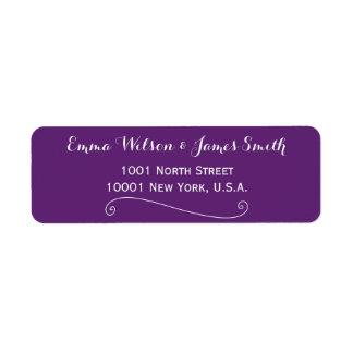 Custom Purple Personalised Address Labels