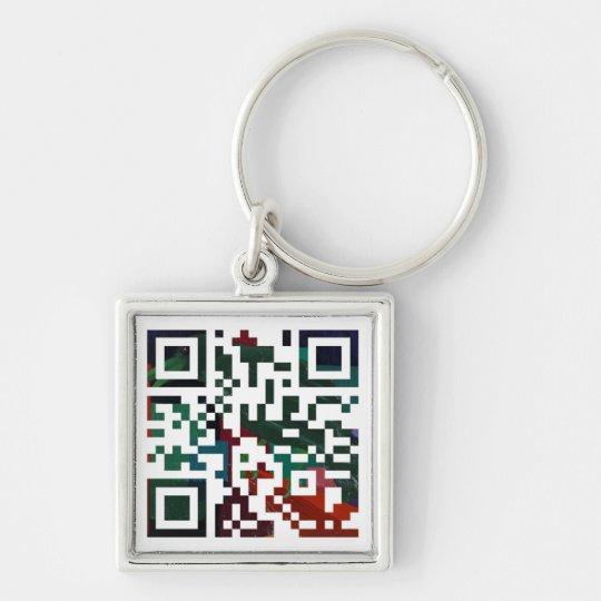 Custom Q R Code Key Ring