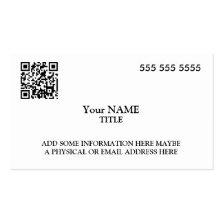 Custom QR Code Executive Pack Of Standard Business Cards