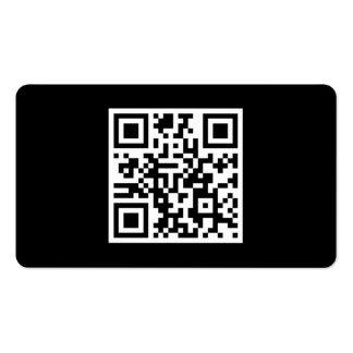 Custom QR Code Modern Black Business Cards