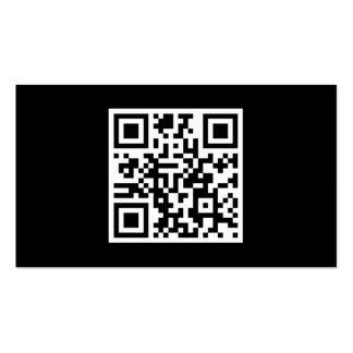 Custom QR Code Modern Black Pack Of Standard Business Cards